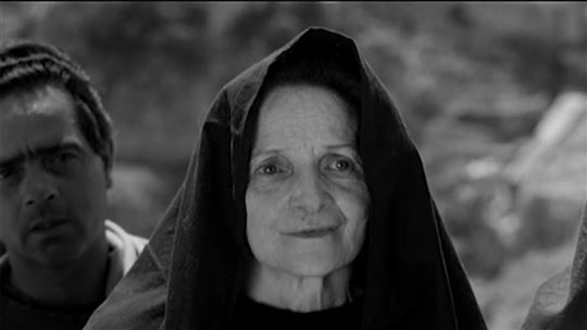 Susanna Pasolini, the filmmaker's mother, as Mary, Mother of Christ