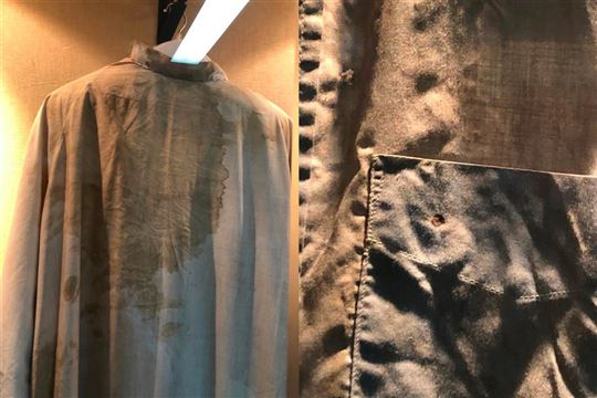 The robe that Archbishop Romero wore at the moment of martyrdom