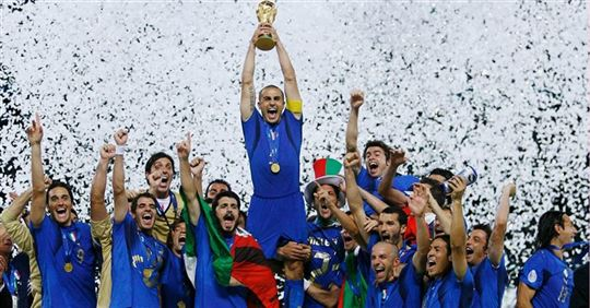 The World Cup held by Fabio Cannavaro in 2006