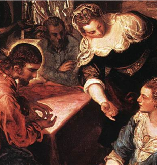 'Christ in the House of Martha and Mary' by Tintoretto