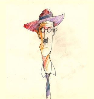 James Joyce (illustration by Roberto Abbiati)