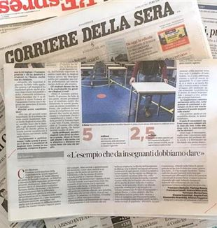 "The letter in ""Corriere della Sera"" on January 10"