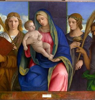 Giovanni Bellini, Virgin and Child with Saints, Metropolitan Museum of Art, New York