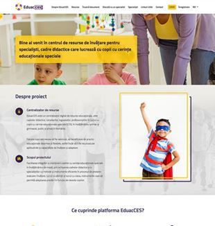 The homepage of the EduacCes portal, websites to consult about learning disorders